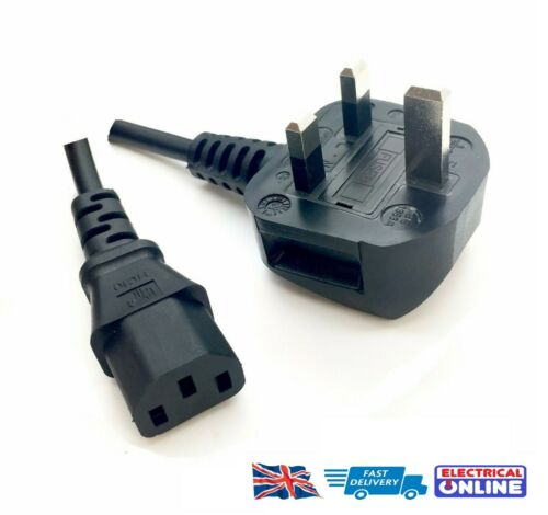 NEW UK Power Lead Cable For HP Designjet Plotters 5000 5500 T610 T1100 T1200