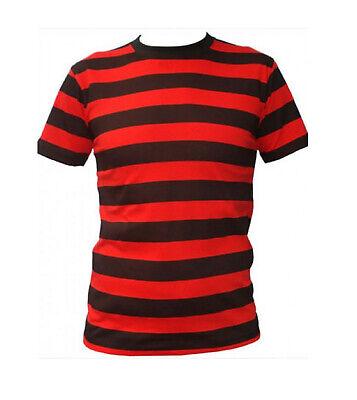 A Righe Rosse E Nere Stile Dennis La Minaccia Costume T-shirt/partito Tops-mostra Il Titolo Originale Vari Stili