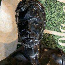 Vtg Bearded Mannequinn Black Color Over 6 Feet Tall 6 Interlocking Pieces