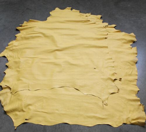Cuero cuero restos pieles enteras amarillo ocre latón, fino fino lammnappa
