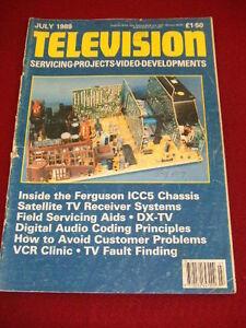 La TELEVISIONE-TV satellitare Ricevitore Systems-LUGLIO 1989 # 465