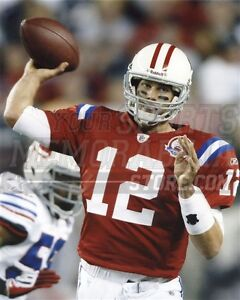 buy online e1d03 8dd97 Details about Tom Brady New England Patriots throwback jersey pass 8x10  11x14 16x20 photo 862