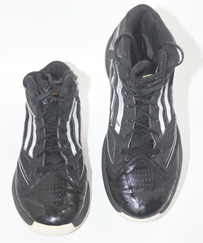 10a4a6e47c9 Adidas Men s Black Synthetic Synthetic Synthetic Hi Top Athletic Comfort  Sneakers Size 5 Shoes 570f9b