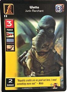Junk Merchant FOIL F12 Star Wars Young Jedi CCG Jedi Council Watto