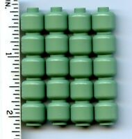 Lego X 20 Sand Green Minifig, Head (plain)
