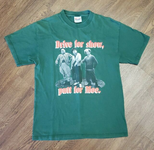 90s Vintage Three Stooges Drive For Show Putt For Moe Golf M T Shirt Ebay