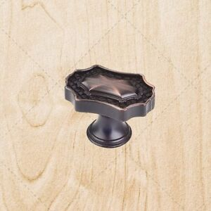 kitchen cabinet hardware knobs kd11 brushed oil rubbed bronze pulls 1 9 16 ebay. Black Bedroom Furniture Sets. Home Design Ideas