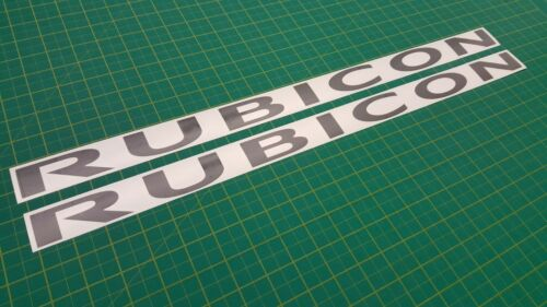Jeep Wrangler Rubicon Bonnet decals stickers Graphics YJ TJ CJ5 CJ7