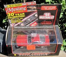 Rare 1999 Road Champs 1965 Ford Nustang GT W/Certificates LE 1-43 Scale MIB
