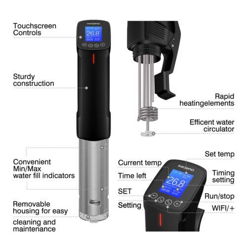 Inkbird Sous Vide Precision Cooker WIFI Alarm Immersion Circulator No Noise