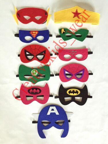 Superhero mask KIDS Costume play hero dress up UNISEX  One size fits all **NEW**