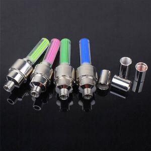 8x-LED-Reifen-Ventilkappe-Lampe-Speichen-licht-Flash-Fuer-Fahrrad-Auto-MotorDBSD