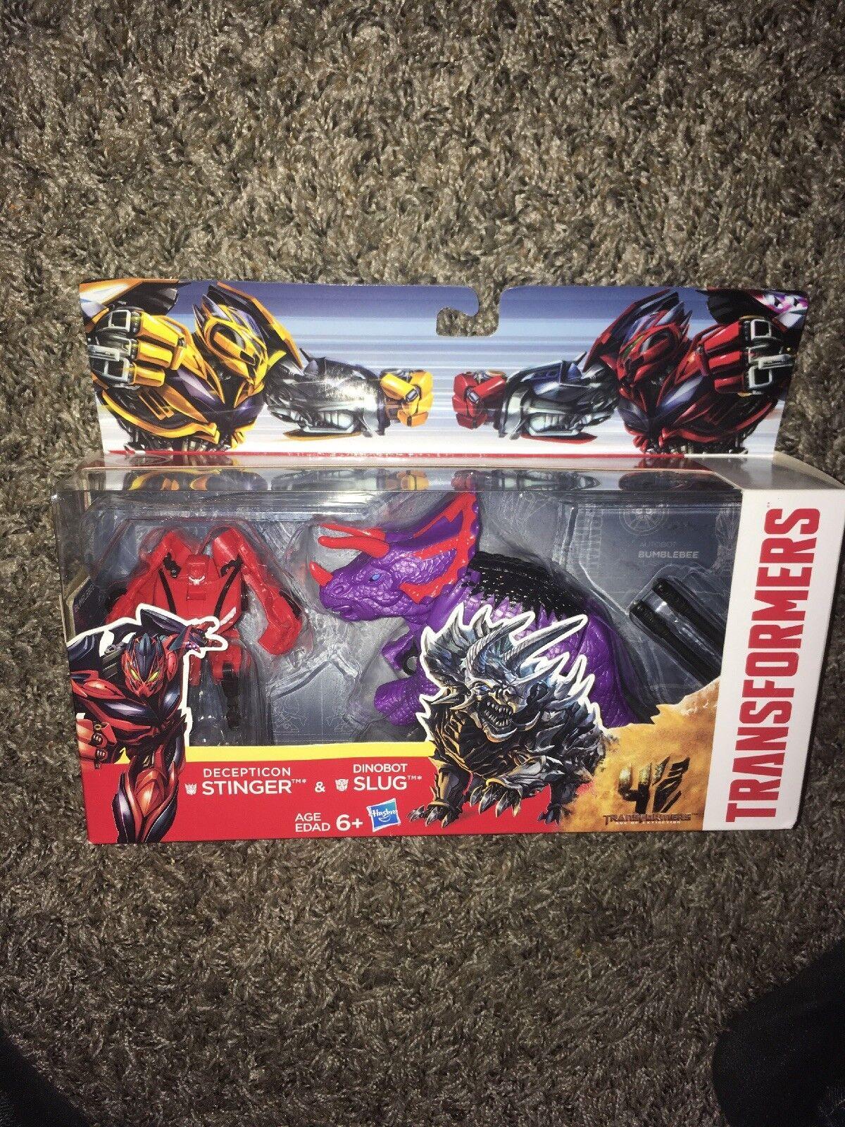 Transformers AOE Stinger Vs Dinobot Slug Walmart Exclusive Set MISB Hasbro 2014