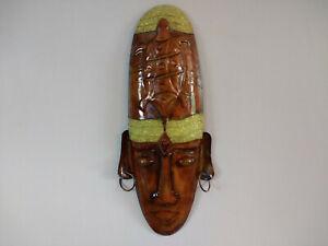 Détails sur Wall Hanging Masque Africain Tribal Style Masque en Métal Mur  Chambre Décoration- afficher le titre d\'origine