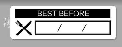 Pre Printed Self Adhesive Food Hygiene Labels Best Before Date