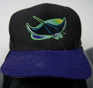 066d10bc2c2 Rare Vintage LOGO 7 Tampa Bay Devil Rays MLB Baseball Snapback Hat ...
