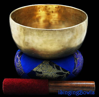 "Antique Tibetan Singing Bowl: Thado 7 1/8"", ca. 18th C., A3 & D#5. VIDEO"