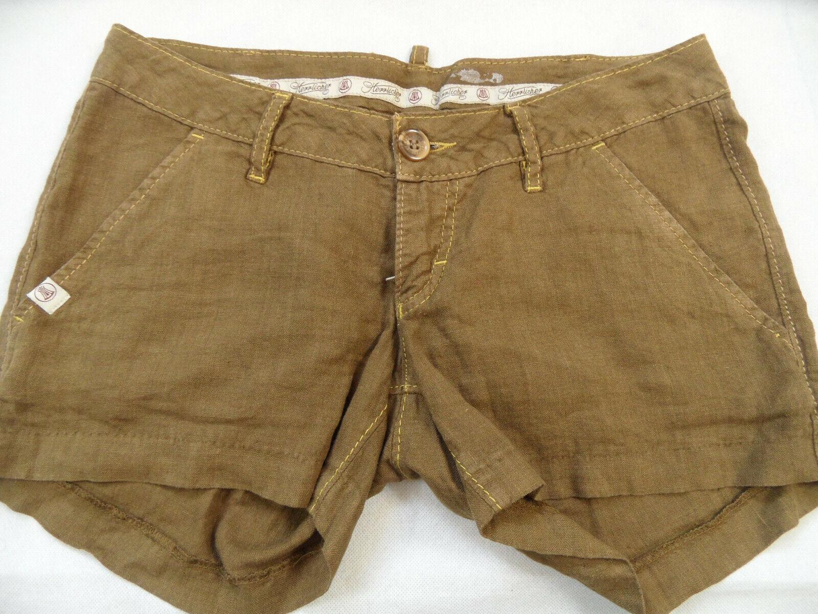 HERRLICHER schöne Shorts Hotpants brownkhaki Gr. 27 TOP ZC219