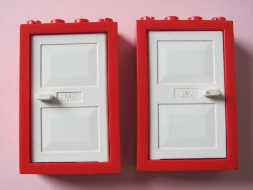 365 1474 1703 LEGO 4130 @@ Door Frame 2 x 4 x 5 with White Door x2