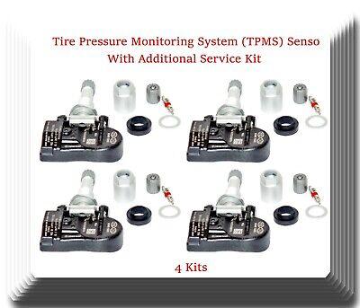 4 x Tire Pressure Monitoring System TPMS Sensor W// Service Kits Fits Hyundai Kia