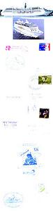 DéSintéRessé Allemand Navire à Passagers Ms Delphin 4 Navires En Cache Couvre & Couleurs 2 Photos-afficher Le Titre D'origine Couleurs Fantaisie