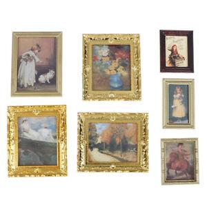 Casa-de-munecas-en-miniatura-pintura-al-oleo-decoracion-accesorios-pintura