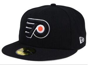 cd75d7791 Details about Philadelphia Flyers Fitted 5950 New Era NHL Black Cap Hat  (Multiple Sizes)
