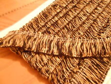BLACK AND GOLD COLOURED BULLION FRINGE 4cm DEEP - SOLD BY THE METRE