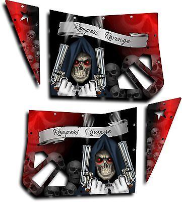 Pro Armor Door Graphics Polaris RZR XP 900 800 08-14 RZR S Grim Reaper Red