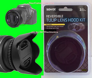 To-CAMERA-NIKON-COOLPIX-P900-BOWER-REVERSIBLE-TULIP-FLOWER-HOOD-LENS-CAP-HOLDER