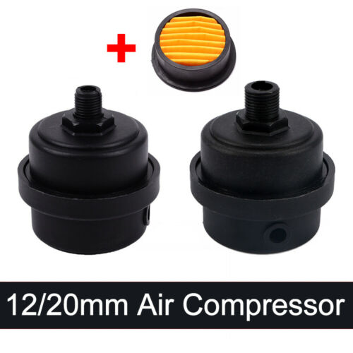 Air Compressor 12mm// 20mm Thread Plastic Housing Canister Piston Filter Silencer