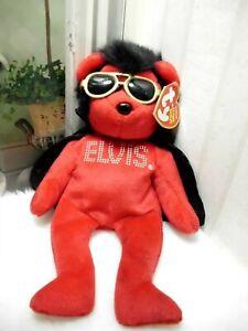 "Ty Elvis Presley shake rattle & Beanie Hotel Plush 9"" Stuffed Red Baby"