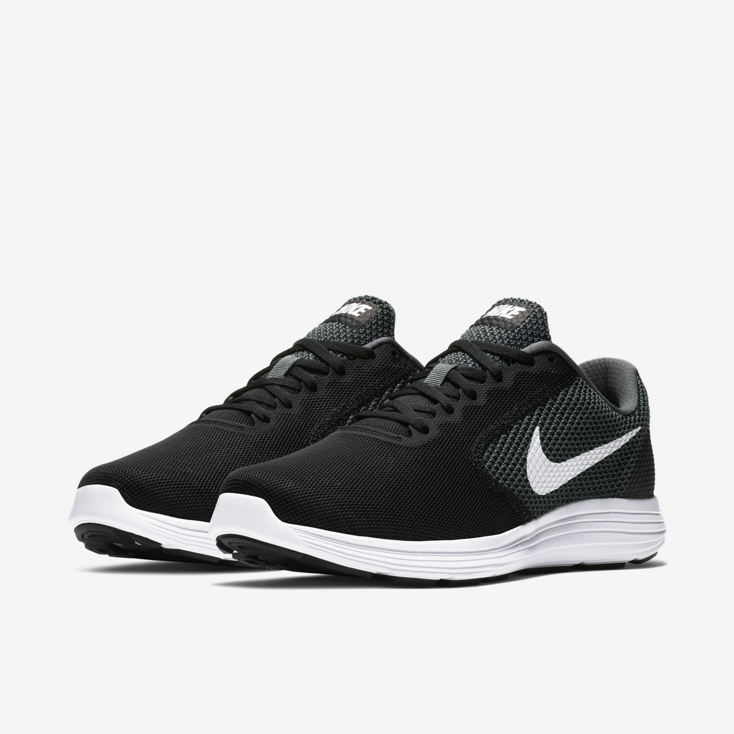 Nike Nike Nike revolution 3 (wide 4e) men running training shoe dark Grau schwarz 819301001 6e09a3