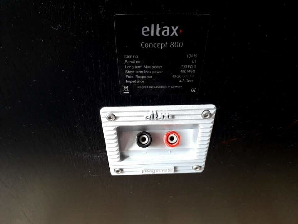 Højttaler, Eltax