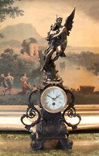 Mantel Empire Shelf  Bronze Clock Cupid Psyche Lovers Works Key Collectible Art
