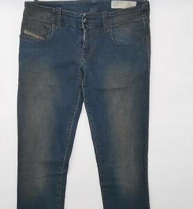 Diesel Grupee Wash 0804B W28 L34 blau Damen Designer Denim Jeans Hose Retro Mode