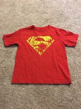 Superman Boys Red Yellow T-Shirt Size Extra Small 4–5