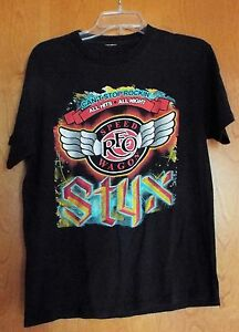 2009 reo speedwagon styx night ranger t shirt can 39 t stop rockin concert tour lg ebay. Black Bedroom Furniture Sets. Home Design Ideas