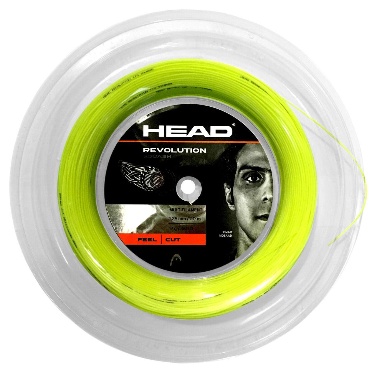 Head Revolution 110m Squash String Reel 17   1.25mm