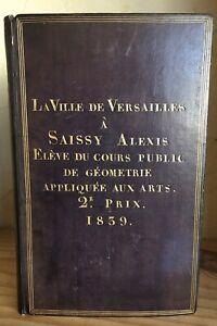 Plat-Personnalise-Beudant-Traite-de-Physique-1838-Reliure-Versailles-Saissy