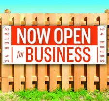 Now Open For Business 24 Hours Advertising Vinyl Banner Flag Sign Many Sizes Usa