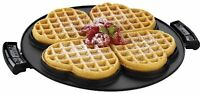 George Foreman Grp106wp 2 Removable Nonstick Heart-shaped Waffle Plates, Black, on sale