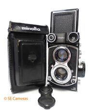 RARE Metered Minolta Autocord CD TLR macchina fotografica con Obiettivo 75MM F3.5 & CASE NR Nuovo di zecca