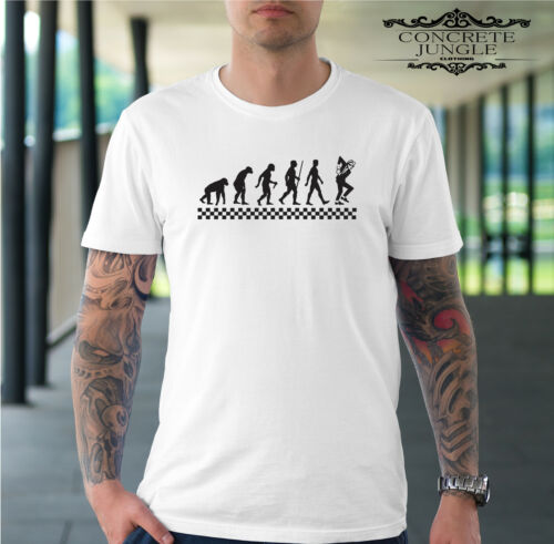 SKA EVOLUTION T-SHIRT/_RUDE BOY/_SKA/_THE SPECIALS/_THE SELECTER/_MADNESS/_2 TONE TEE