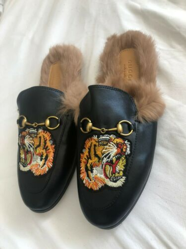 Mens Gucci loafer shoes slippers size 9