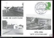 SNCF. chemin de fer . train . gare de Lyon Vaise . 30é anniversaire  . 1986