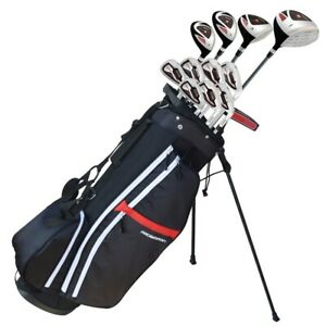 Prosimmon-Golf-X9-V2-Tall-1-034-Mens-Graphite-Steel-Golf-Club-Set-amp-Bag-Stiff-Flex