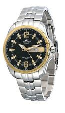 Casio Edifice EF131D-1A9 Mens Gold Two-Tone Stainless Steel Dress Watch New 100M