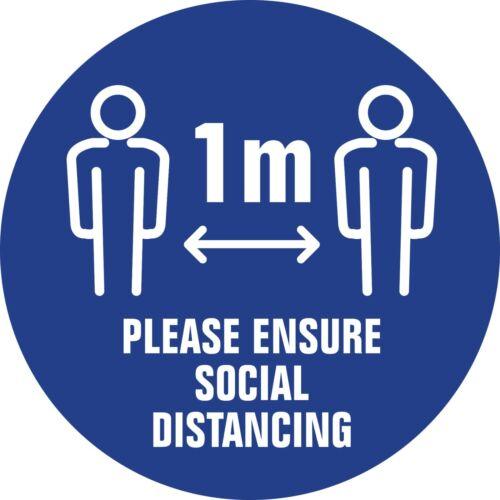 X10 Cov ID 1m ENSURE SOCIAL DISTANCE  FLOOR STICKER SHOP// SHOWROOM