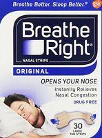 Breathe Right, Original Nasal Strips 30 Large Tan Strips on sale